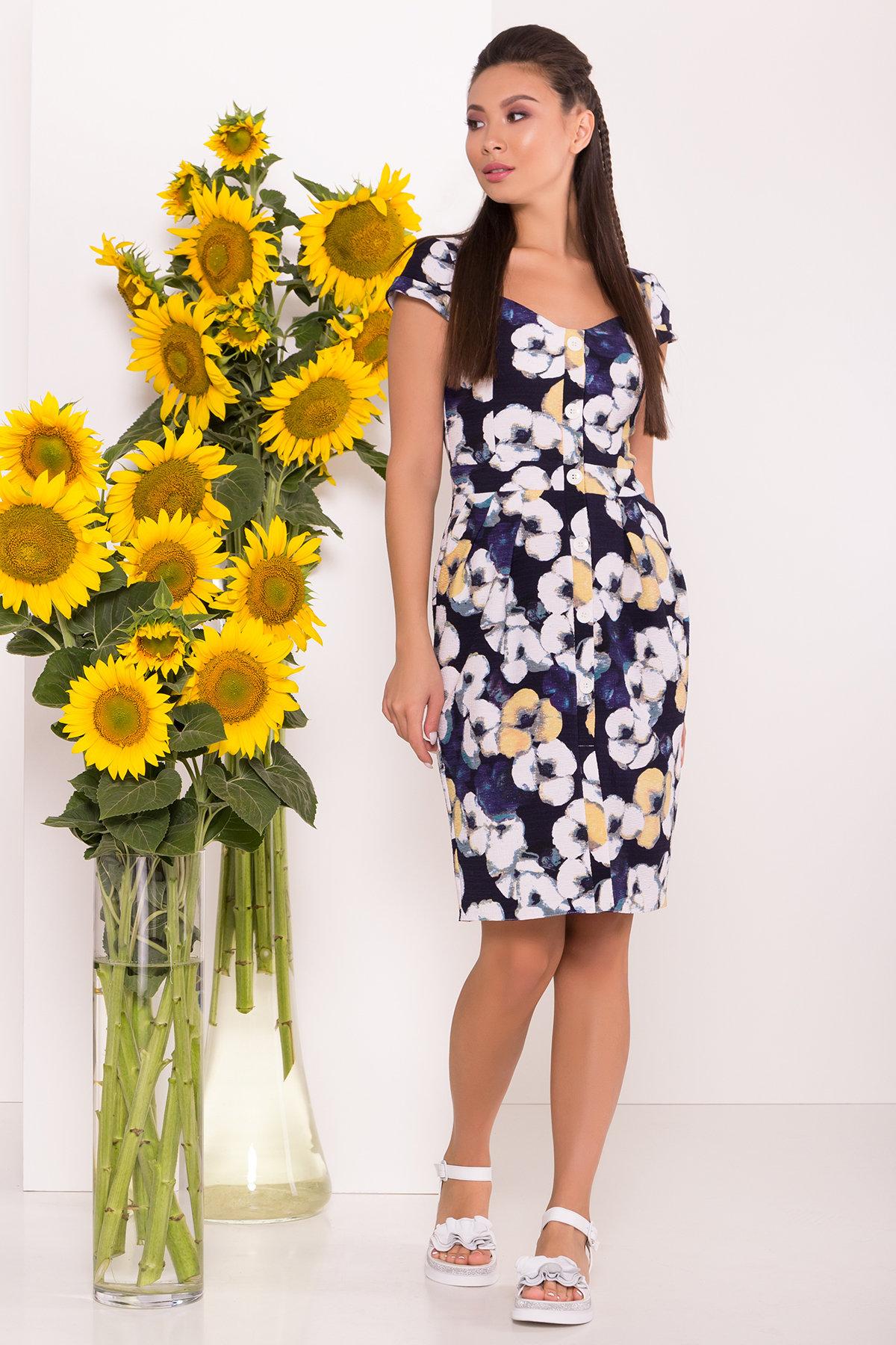 летние платья из шифона Платье Марсель 7612