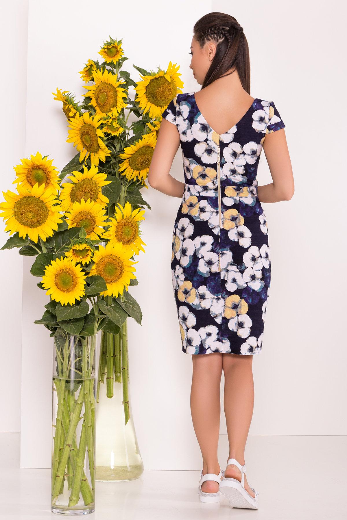 Платье Марсель 7612 АРТ. 43549 Цвет: Ромашка т.син больш - фото 2, интернет магазин tm-modus.ru