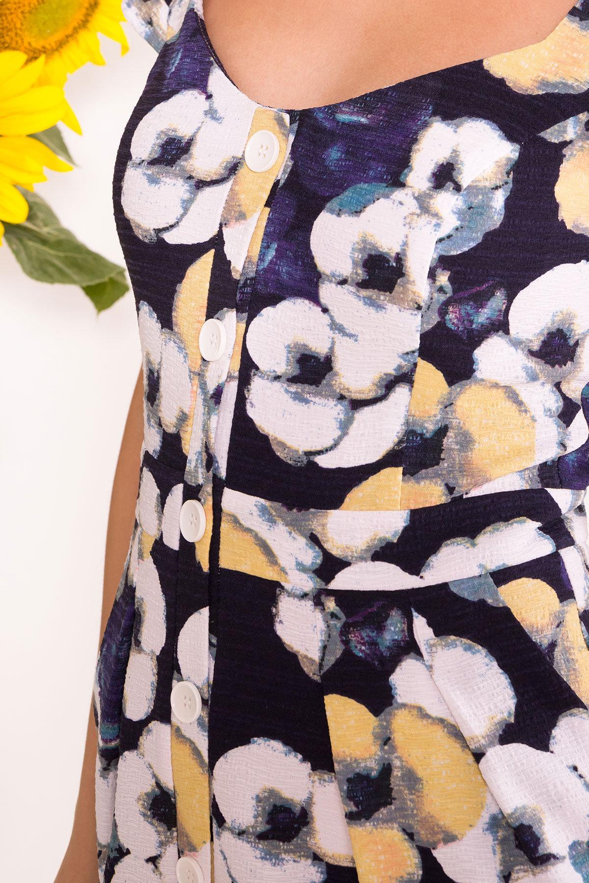 Платье Марсель 7612 АРТ. 43549 Цвет: Ромашка т.син больш - фото 4, интернет магазин tm-modus.ru