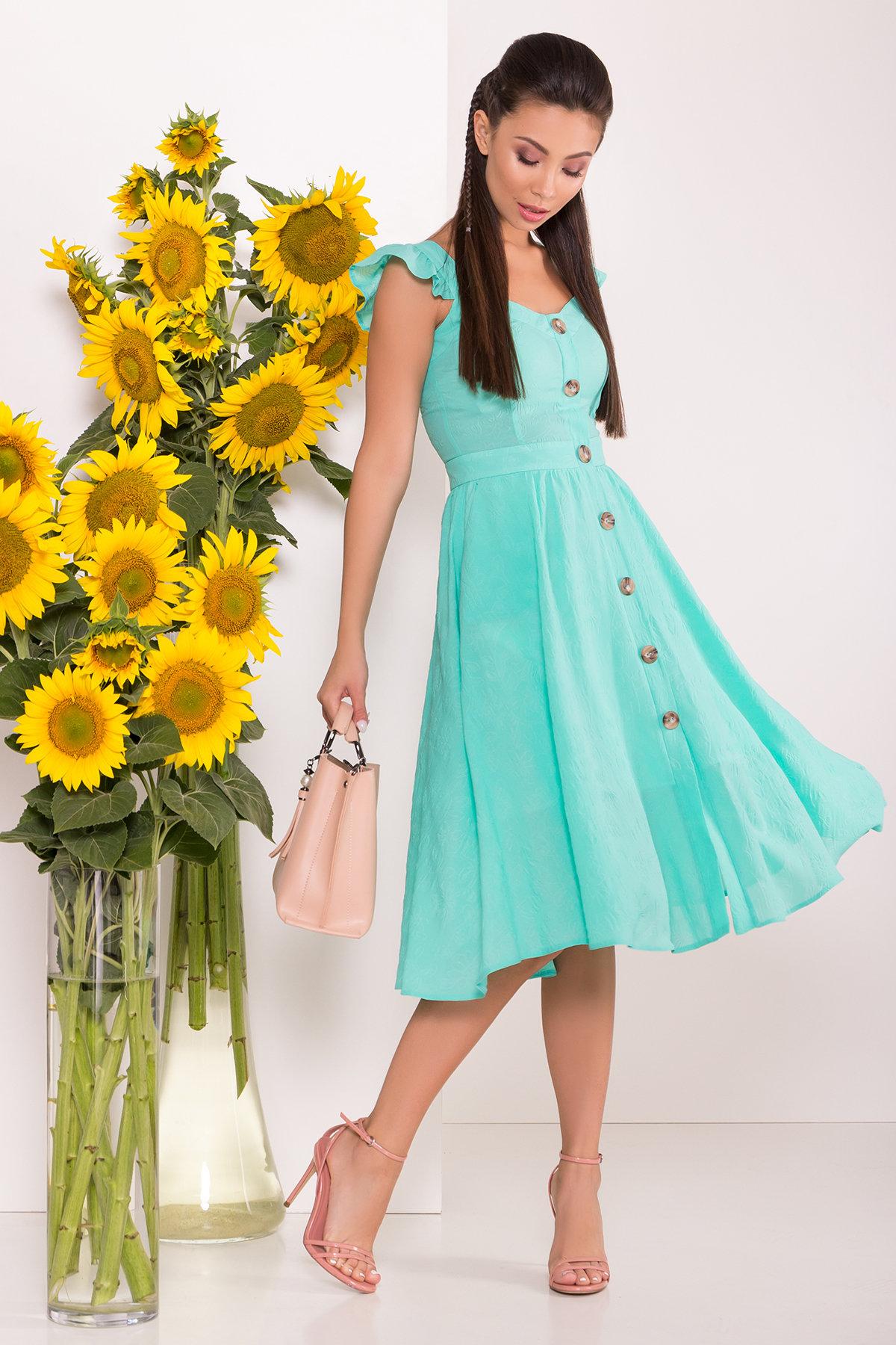 летние платья Однотонное Платье Ундина 7587