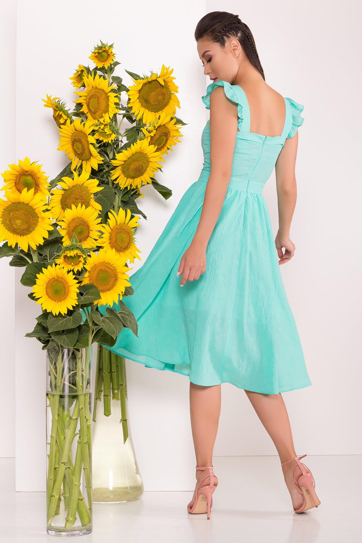 Однотонное Платье Ундина 7587 АРТ. 43531 Цвет: Мята - фото 2, интернет магазин tm-modus.ru