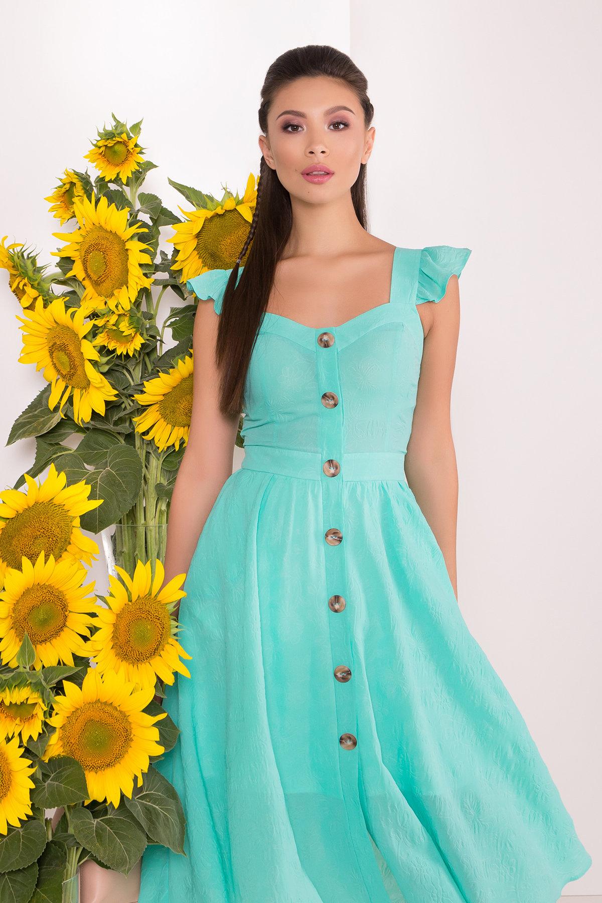 Однотонное Платье Ундина 7587 АРТ. 43531 Цвет: Мята - фото 3, интернет магазин tm-modus.ru