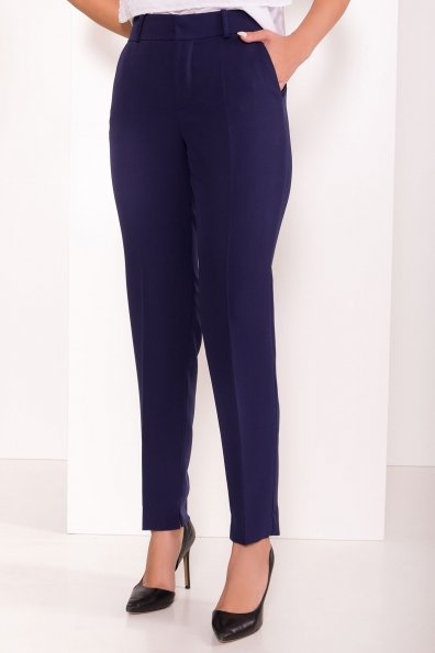 Базовые брюки со стрелками Эдвин 2467 Цвет: Тёмно-синий