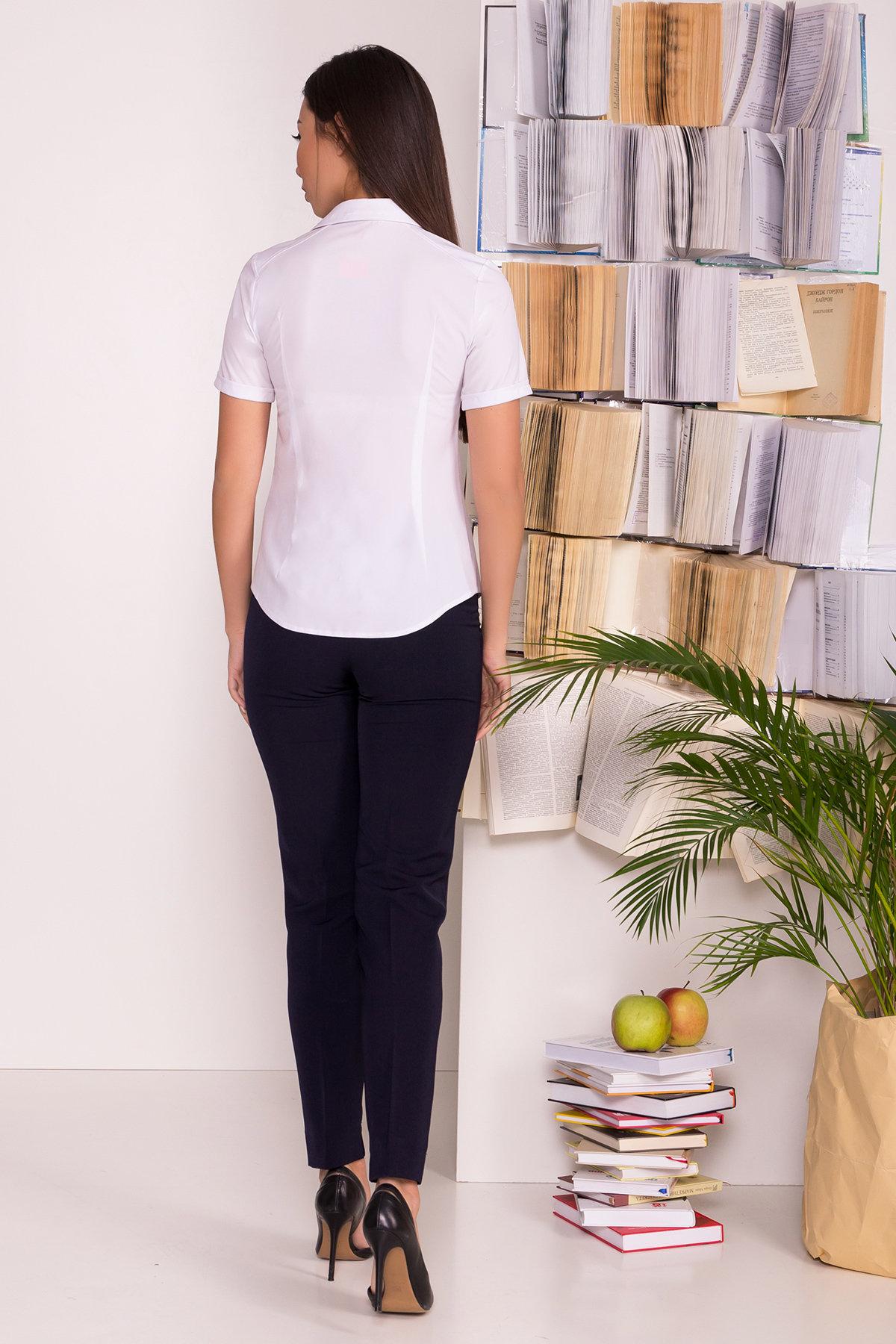 Белая блузка с накладным карманом Дженна 5285 АРТ. 36526 Цвет: Белый - фото 3, интернет магазин tm-modus.ru