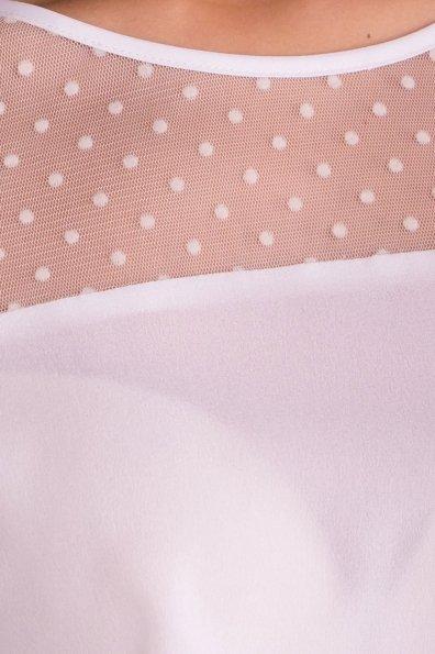 Блузка оригинального кроя Свит 7669 Цвет: Белый