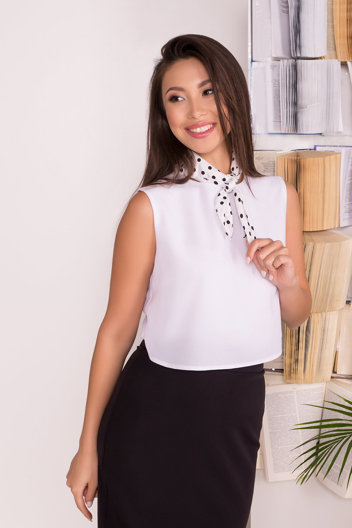 Двухслойная блузка Арома лайт  7642 Цвет: Белый