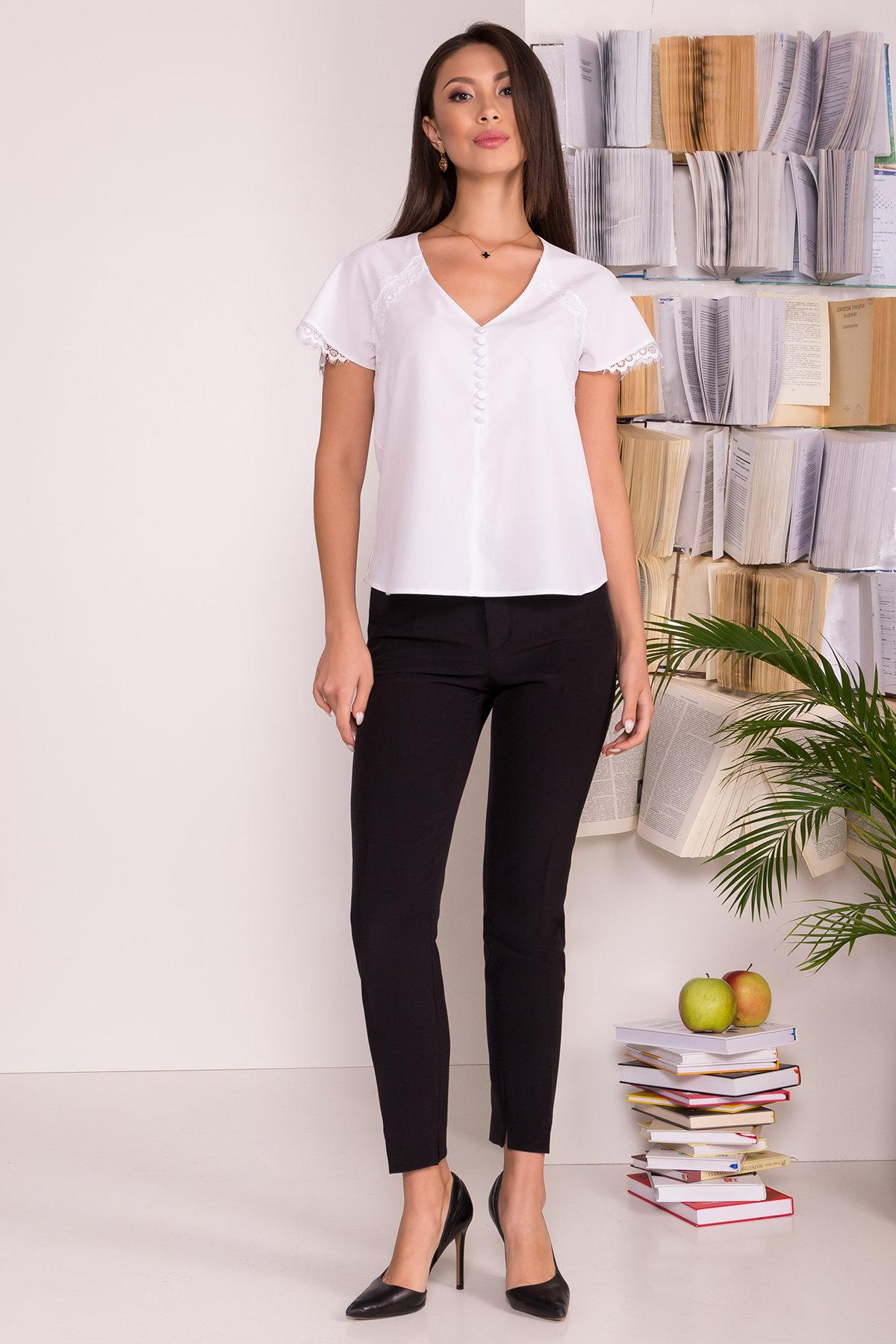 Блузка с v-образным вырезом Аиша  7648 Цвет: Белый