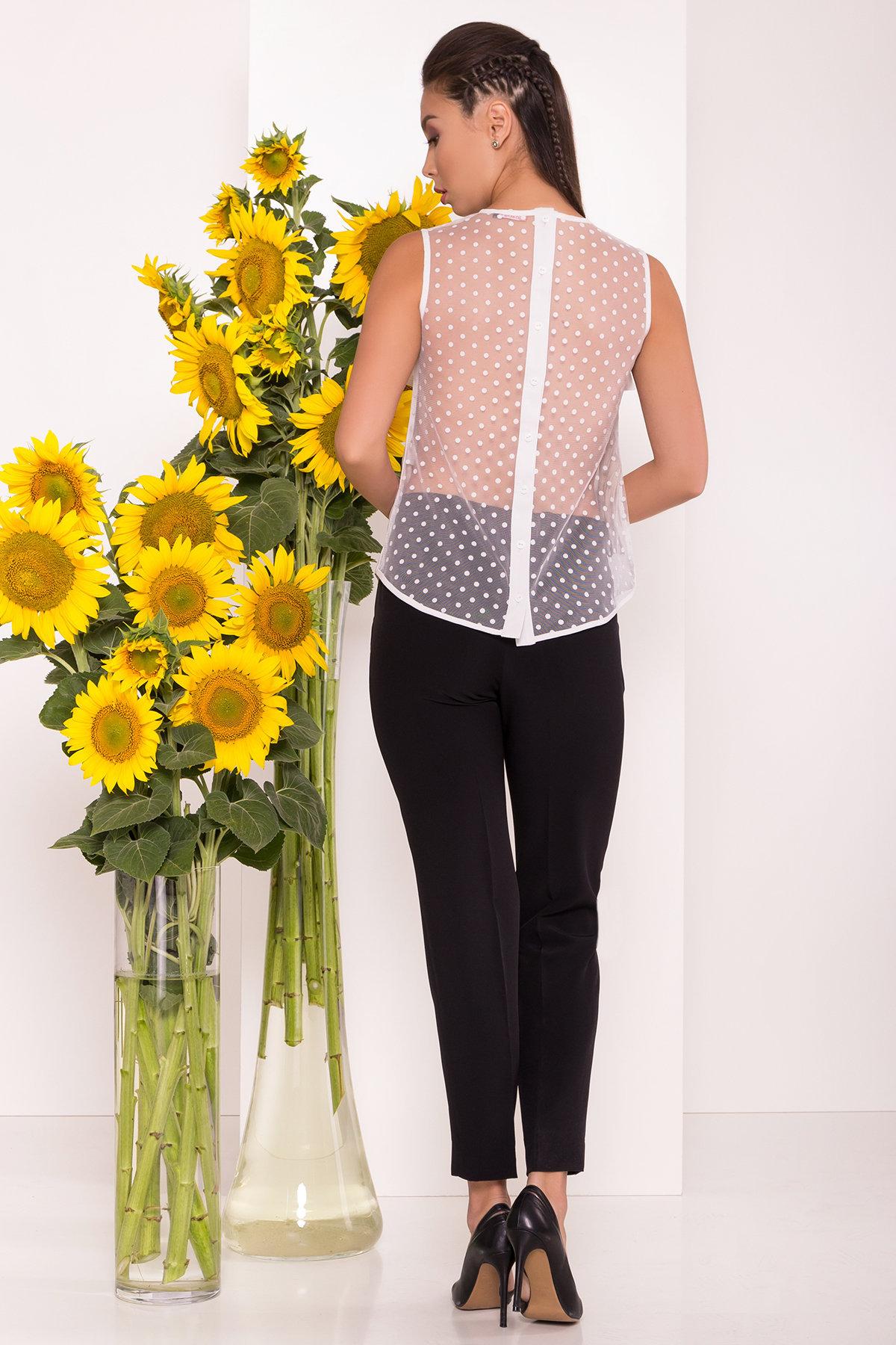 Блузка с оборками на груди Талина 7368 АРТ. 43573 Цвет: Белый - фото 2, интернет магазин tm-modus.ru
