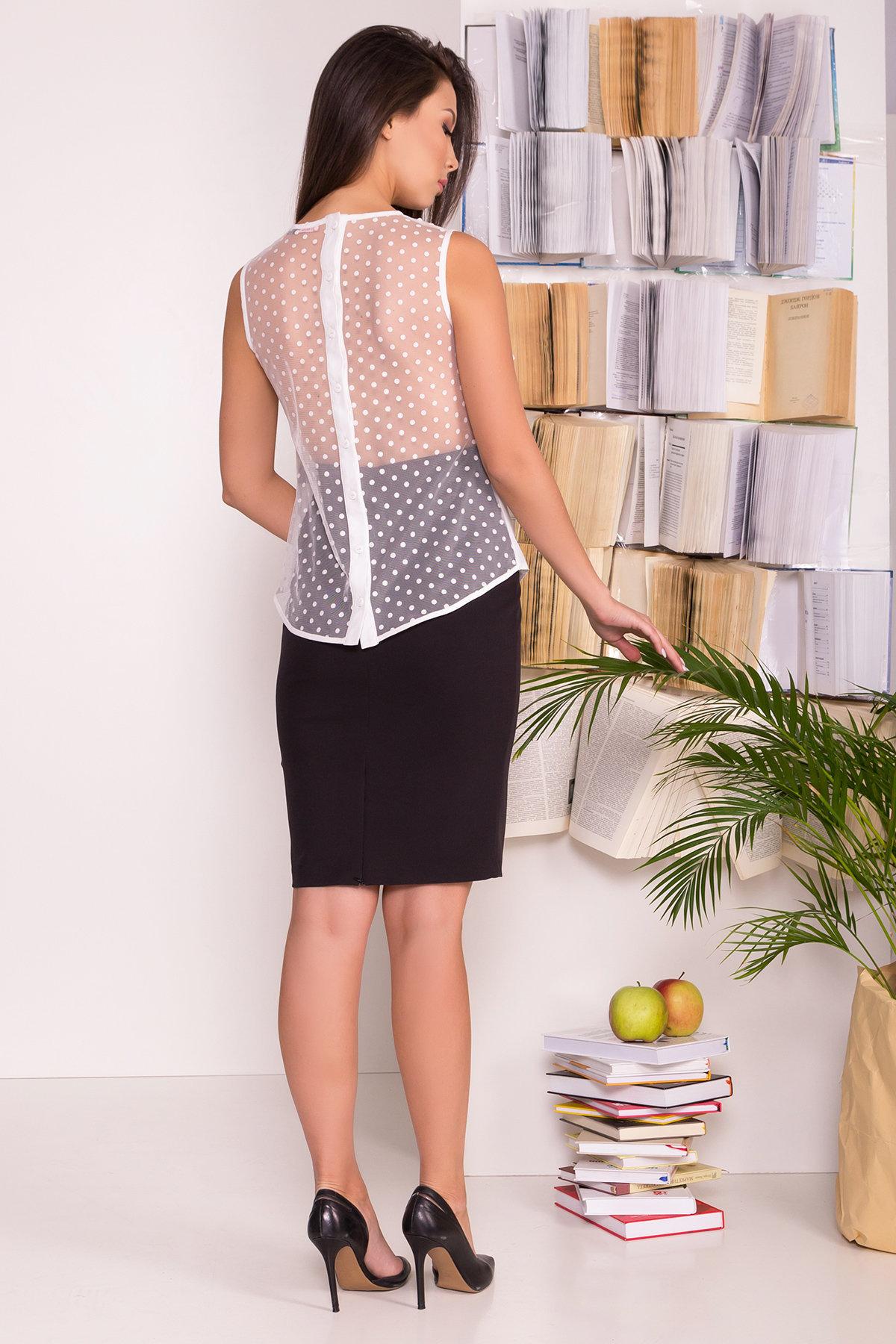 Блузка с оборками на груди Талина 7368 АРТ. 43573 Цвет: Белый - фото 7, интернет магазин tm-modus.ru