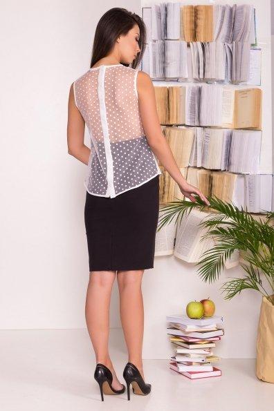 Блузка с оборками на груди Талина 7368 Цвет: Белый