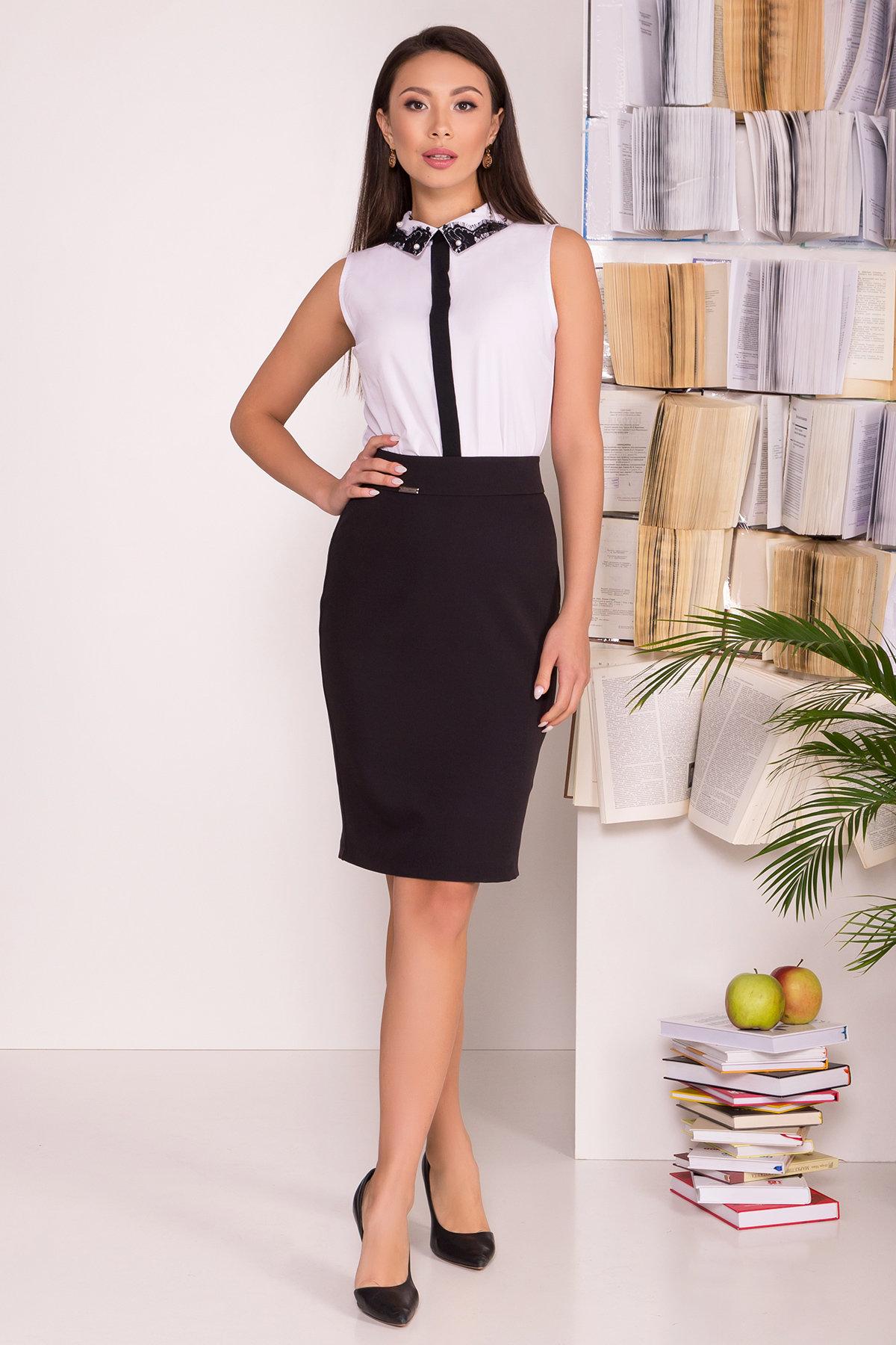 Блузка с вертикальной вставкой Мурия 5220 АРТ. 36304 Цвет: Белый - фото 6, интернет магазин tm-modus.ru
