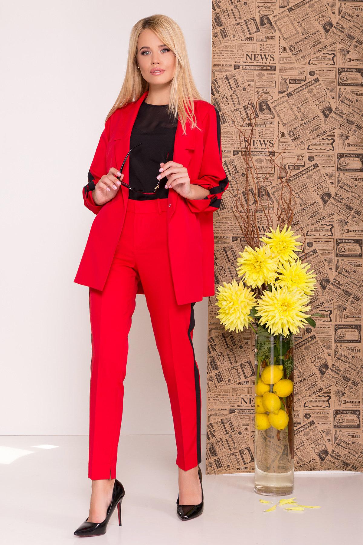 Костюм Макеба 7715 АРТ. 43619 Цвет: Красный/черный - фото 4, интернет магазин tm-modus.ru