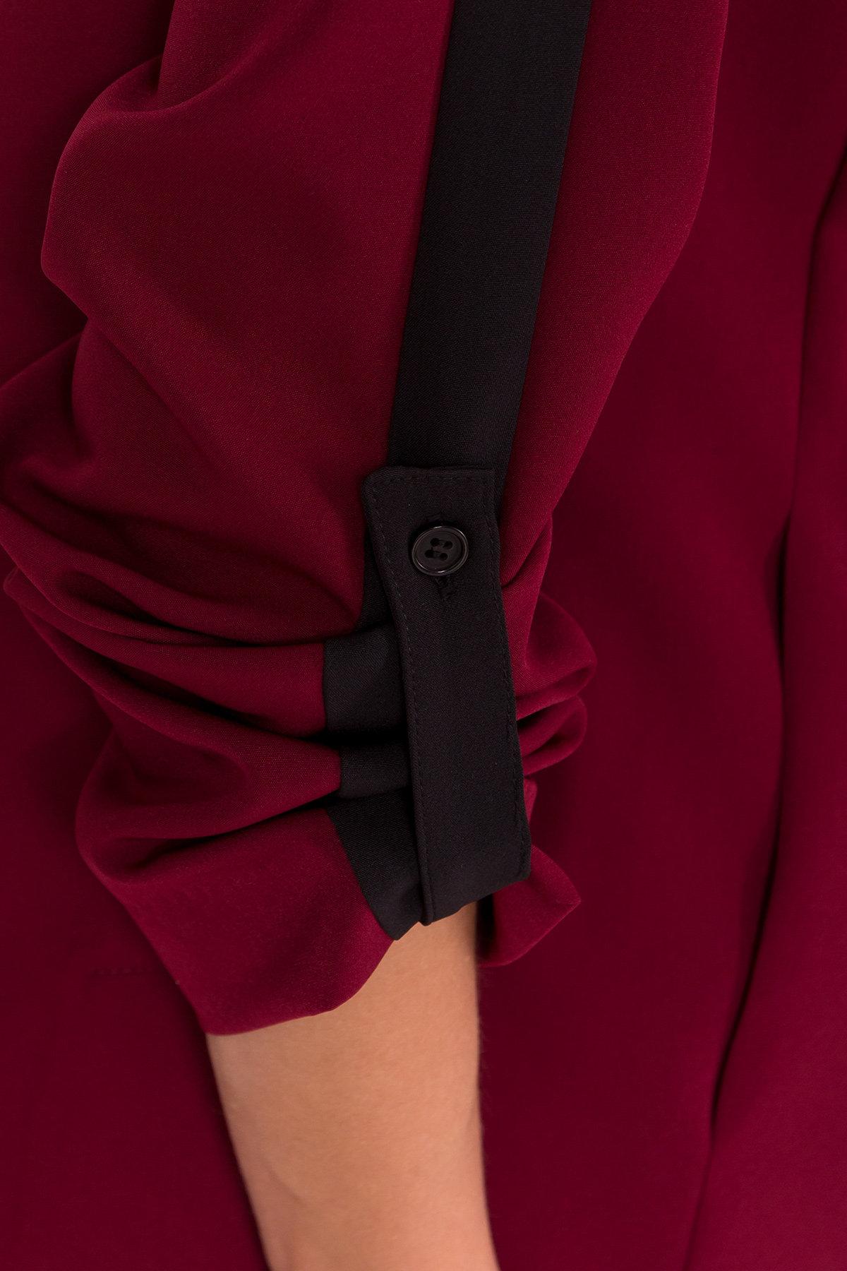 Брючный костюм с лампасами Макеба 7715 АРТ. 43621 Цвет: Марсала/черный - фото 5, интернет магазин tm-modus.ru