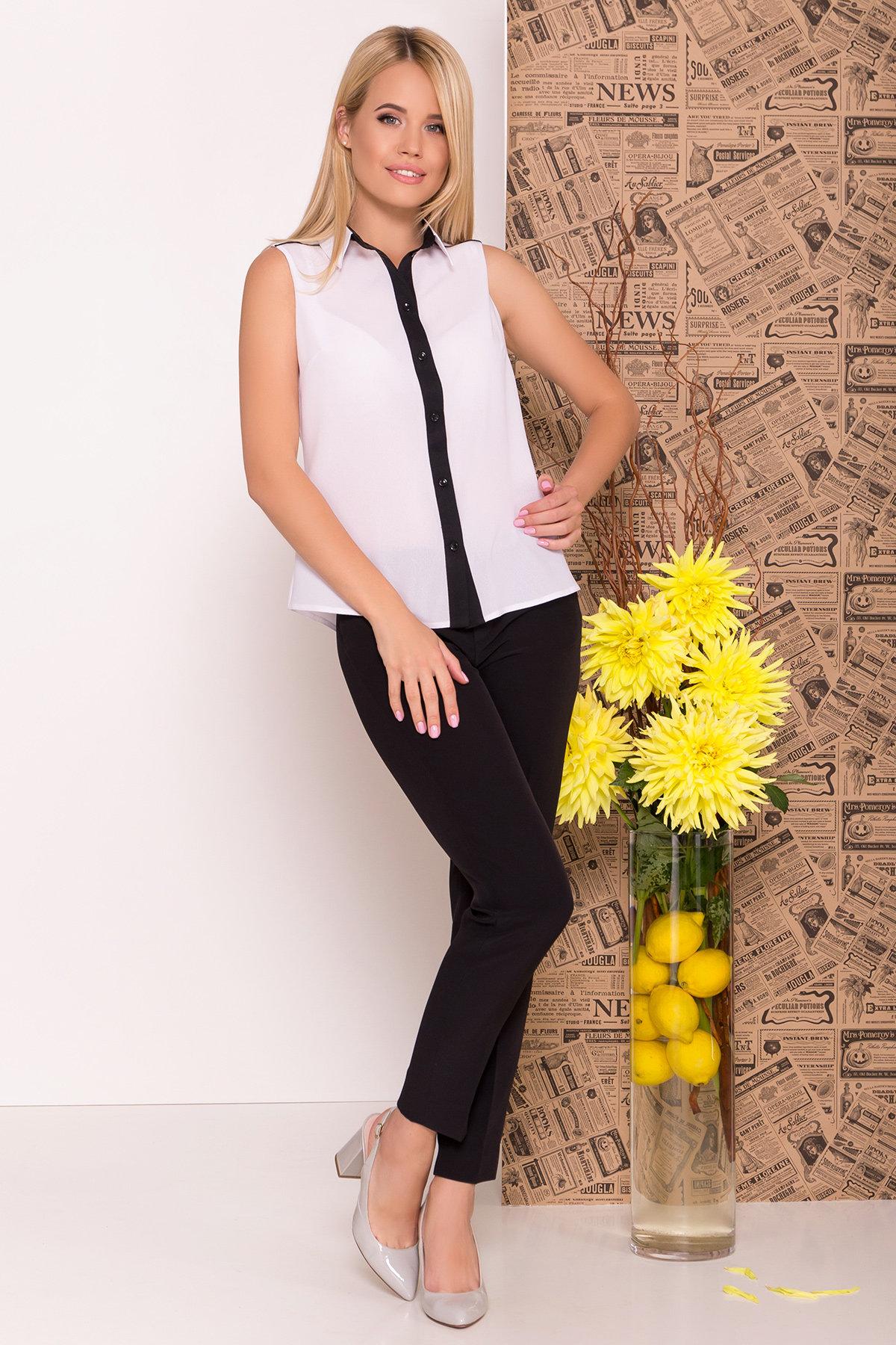 Блуза Ариана 7729 АРТ. 43635 Цвет: Белый/черный - фото 1, интернет магазин tm-modus.ru