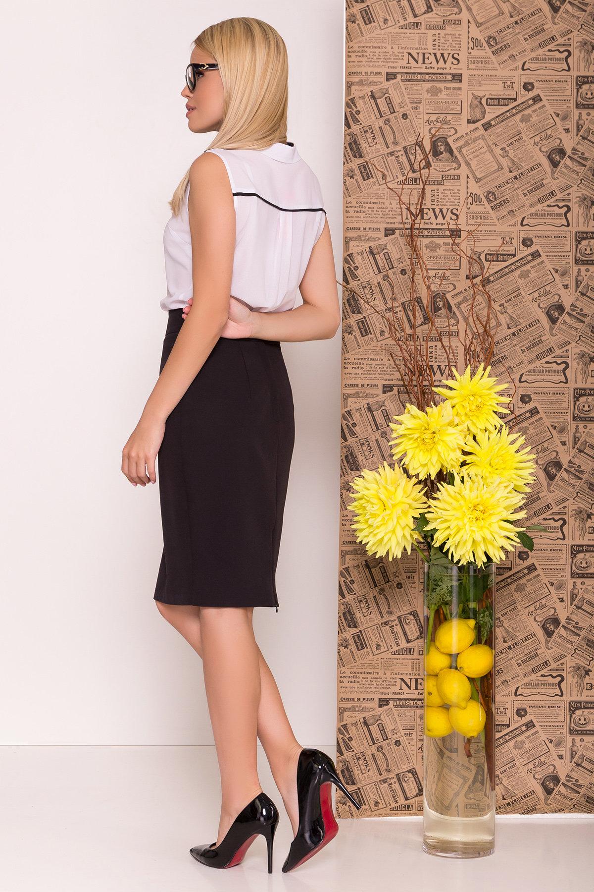 Блуза Ариана 7729 АРТ. 43635 Цвет: Белый/черный - фото 3, интернет магазин tm-modus.ru