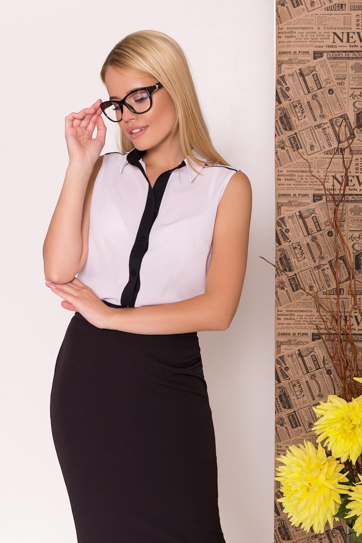Блуза Ариана 7729 АРТ. 43635 Цвет: Белый/черный - фото 4, интернет магазин tm-modus.ru