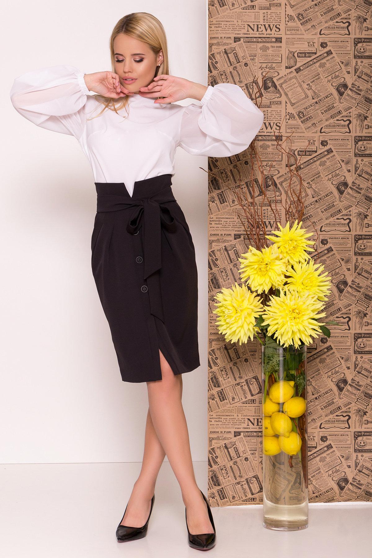 Нарядная блуза из шифона Сейшил 7746 Цвет: Белый