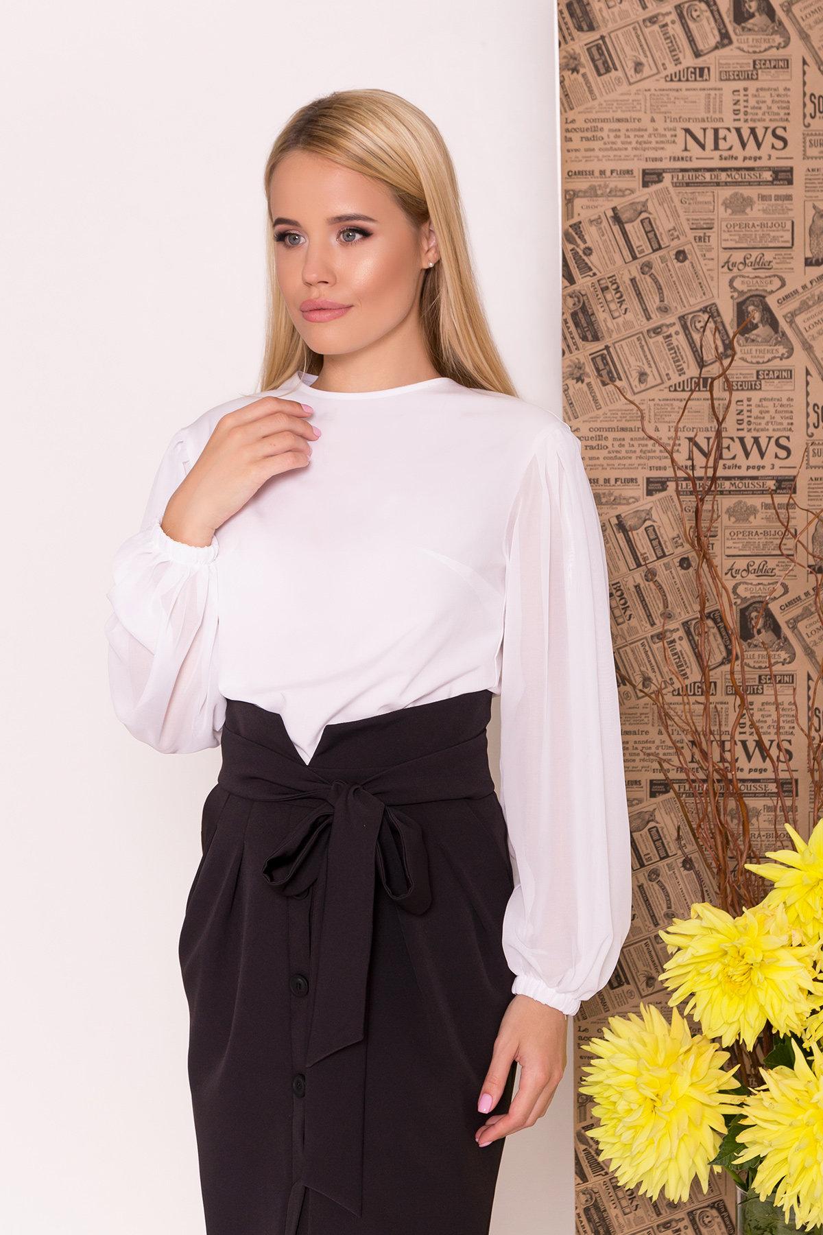 Блуза Сейшил 7746 АРТ. 43641 Цвет: Белый - фото 4, интернет магазин tm-modus.ru
