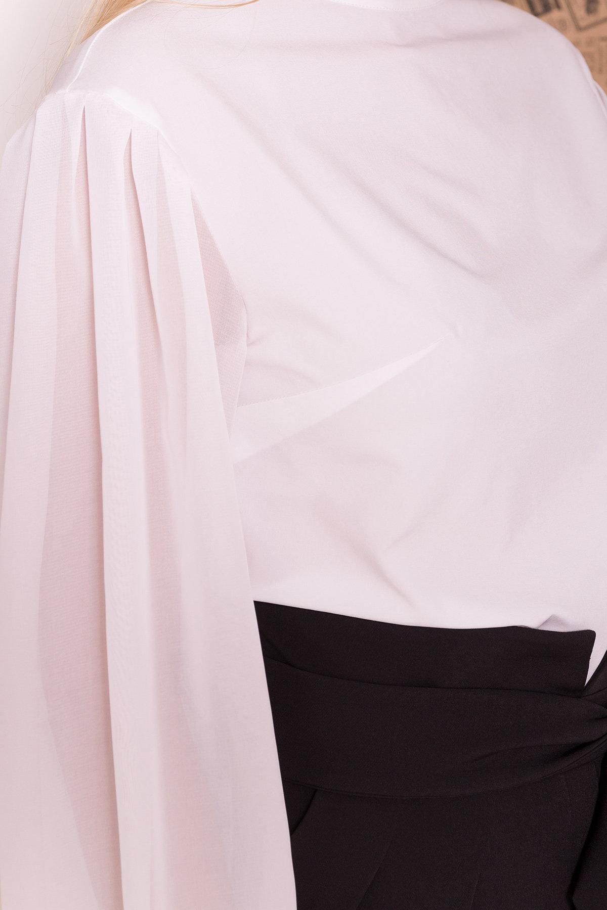 Блуза Сейшил 7746 АРТ. 43641 Цвет: Белый - фото 5, интернет магазин tm-modus.ru
