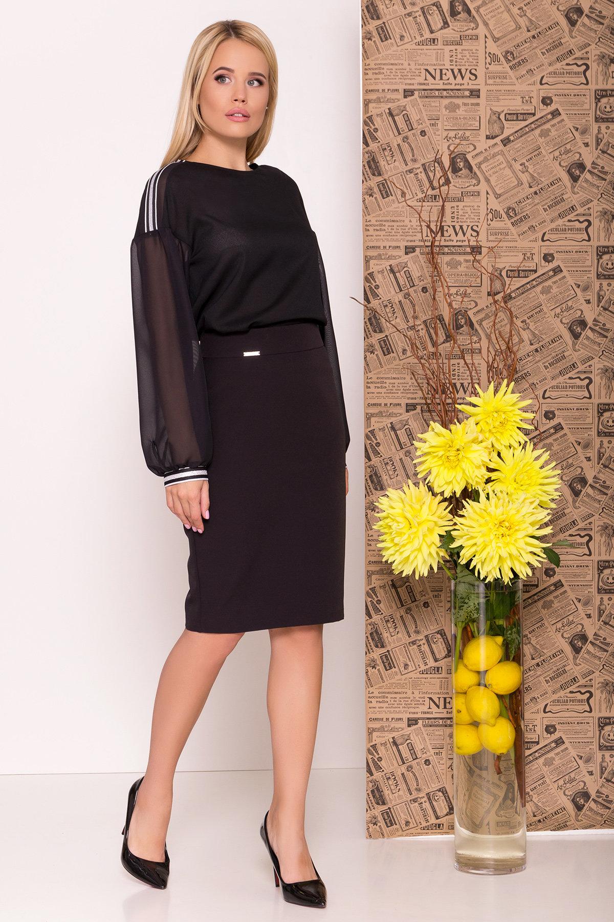 Блуза с широким рукавом Спарта 7741 Цвет: Черный