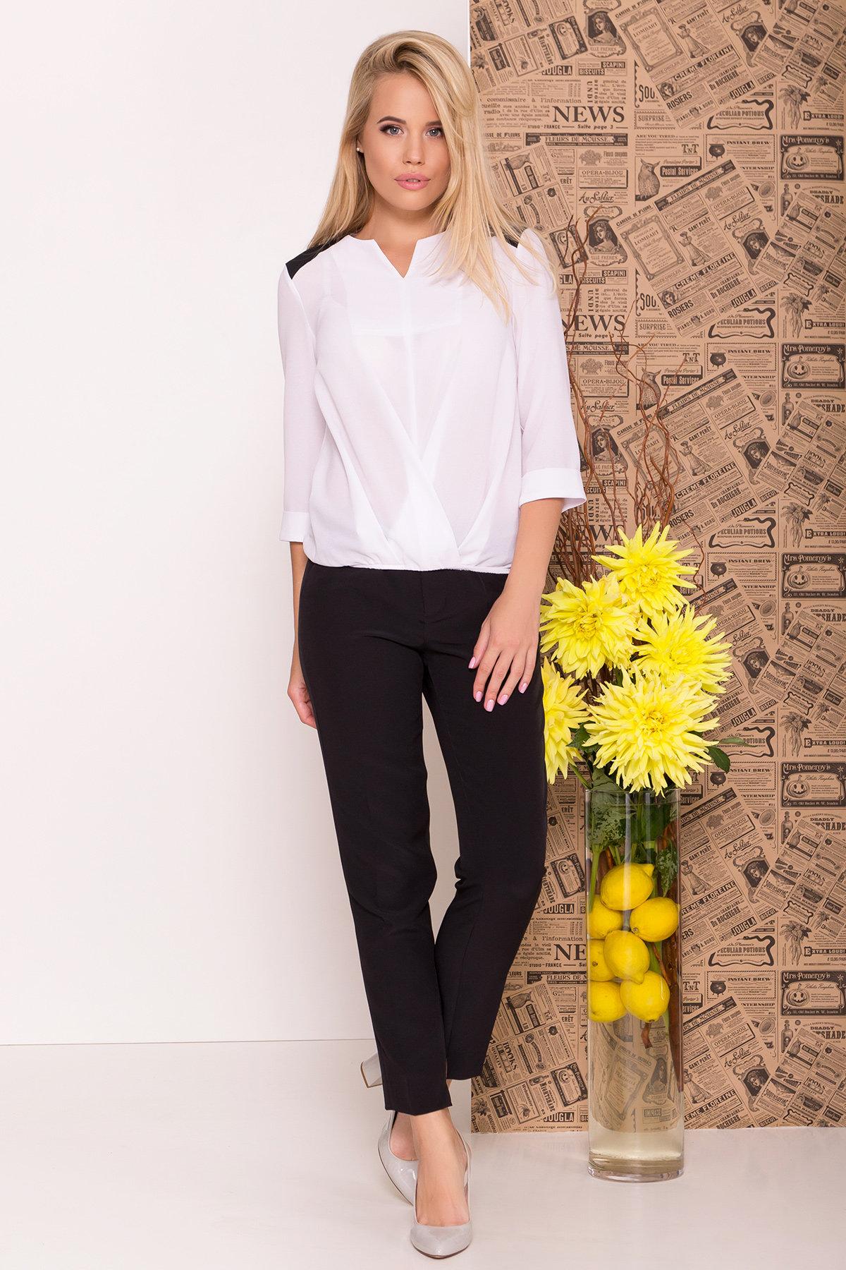 Блуза рукав 3/4 Модена 7728 АРТ. 43656 Цвет: Белый/черный - фото 1, интернет магазин tm-modus.ru