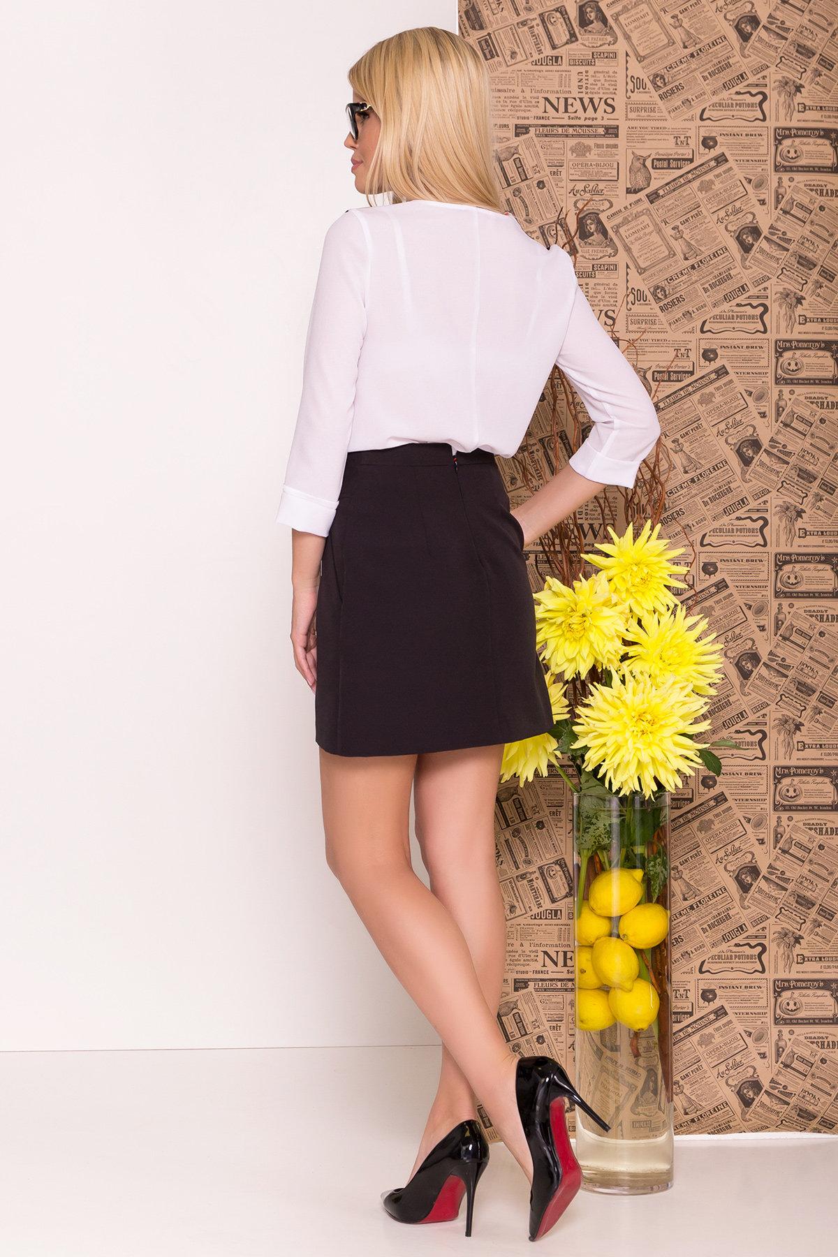 Блуза рукав 3/4 Модена 7728 АРТ. 43656 Цвет: Белый/черный - фото 4, интернет магазин tm-modus.ru