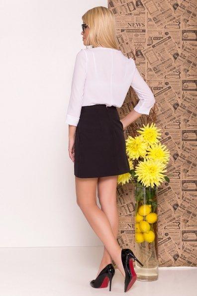 Блуза рукав 3/4 Модена 7728 Цвет: Белый/черный