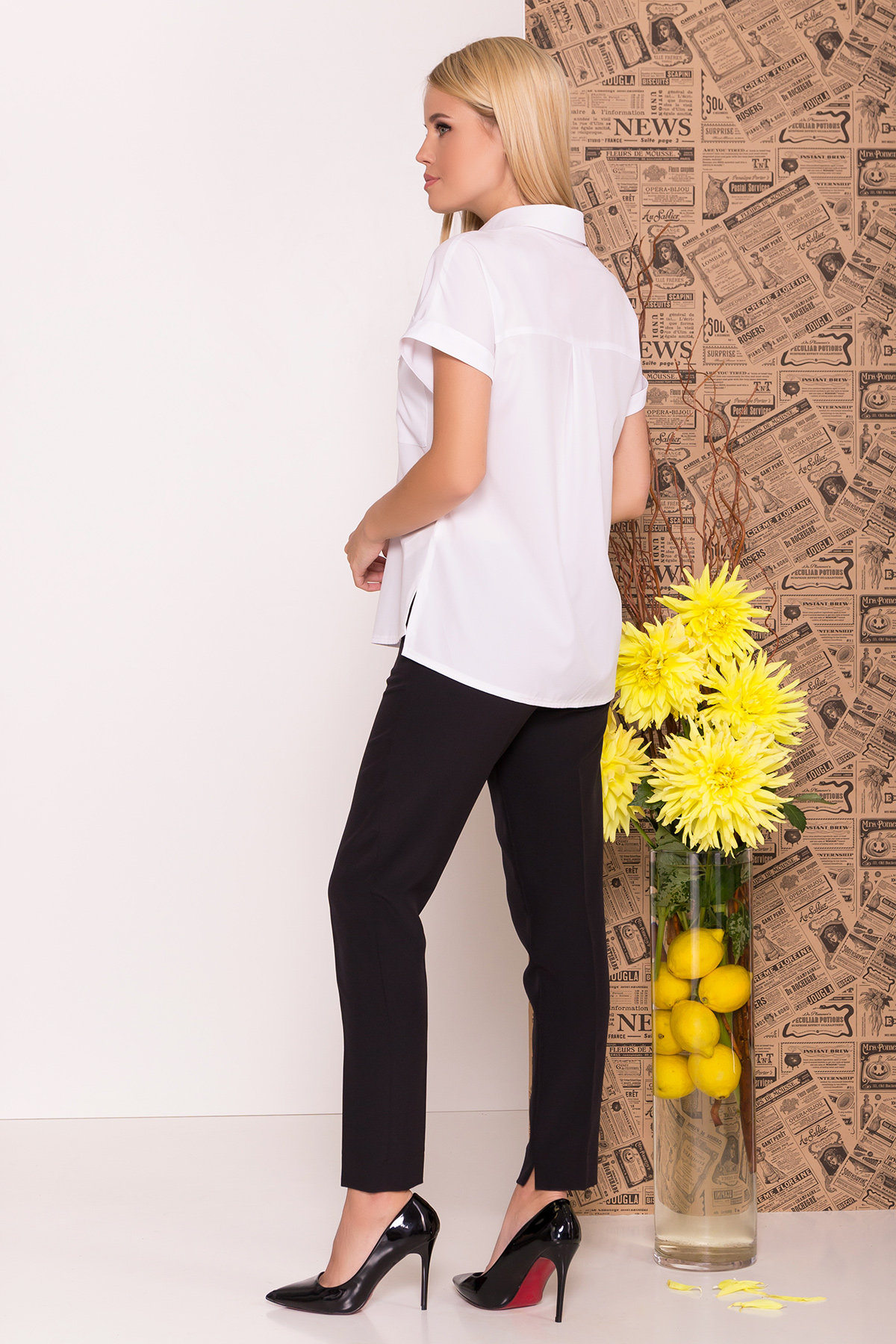 Рубашка с коротким рукавом Айра 7738 Цвет: Белый