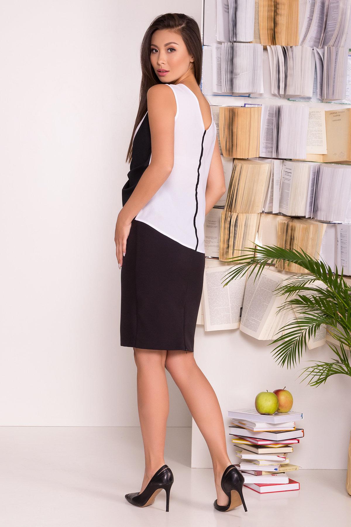 Черно-белая блуза Борнео 7655 АРТ. 43640 Цвет: Белый/черный - фото 3, интернет магазин tm-modus.ru