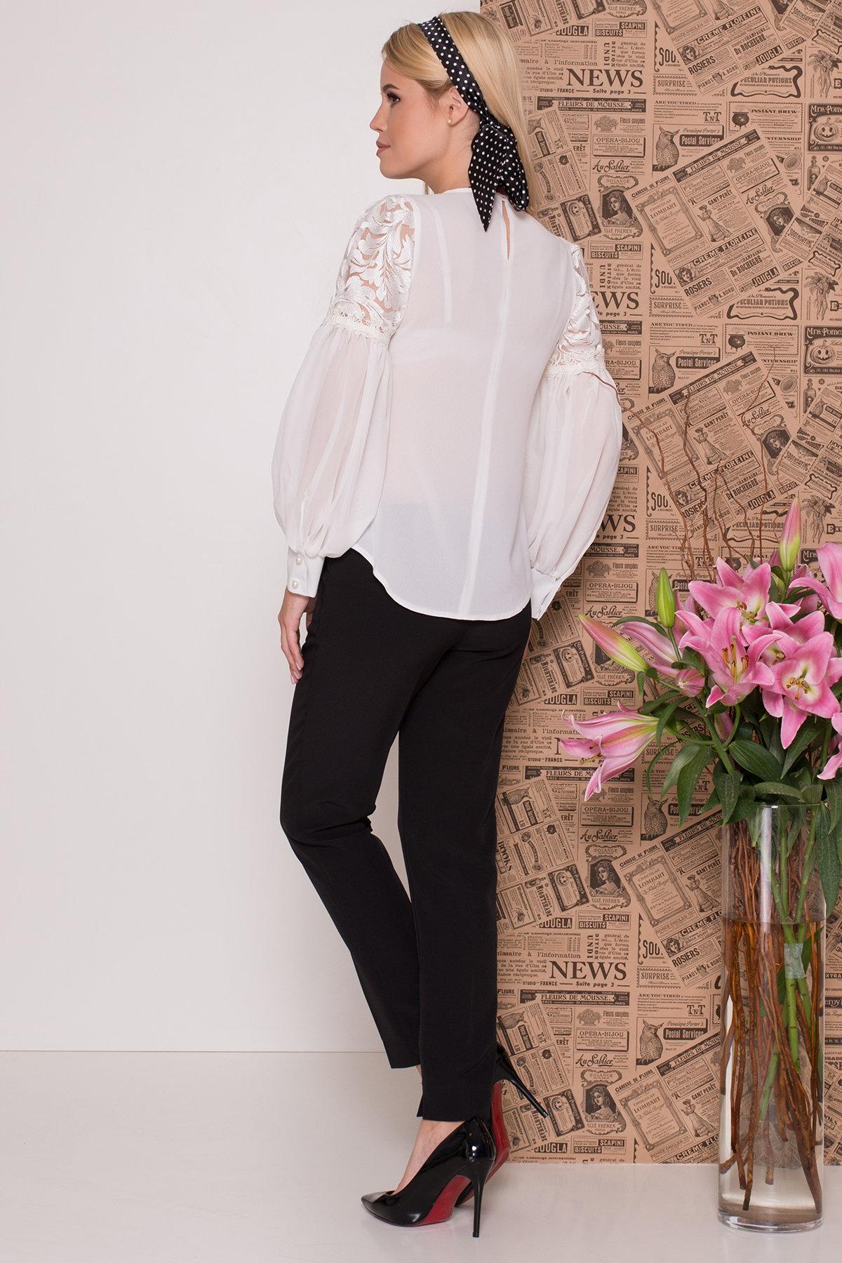 Нарядная блуза из шифона Эрин 7748 Цвет: Молоко