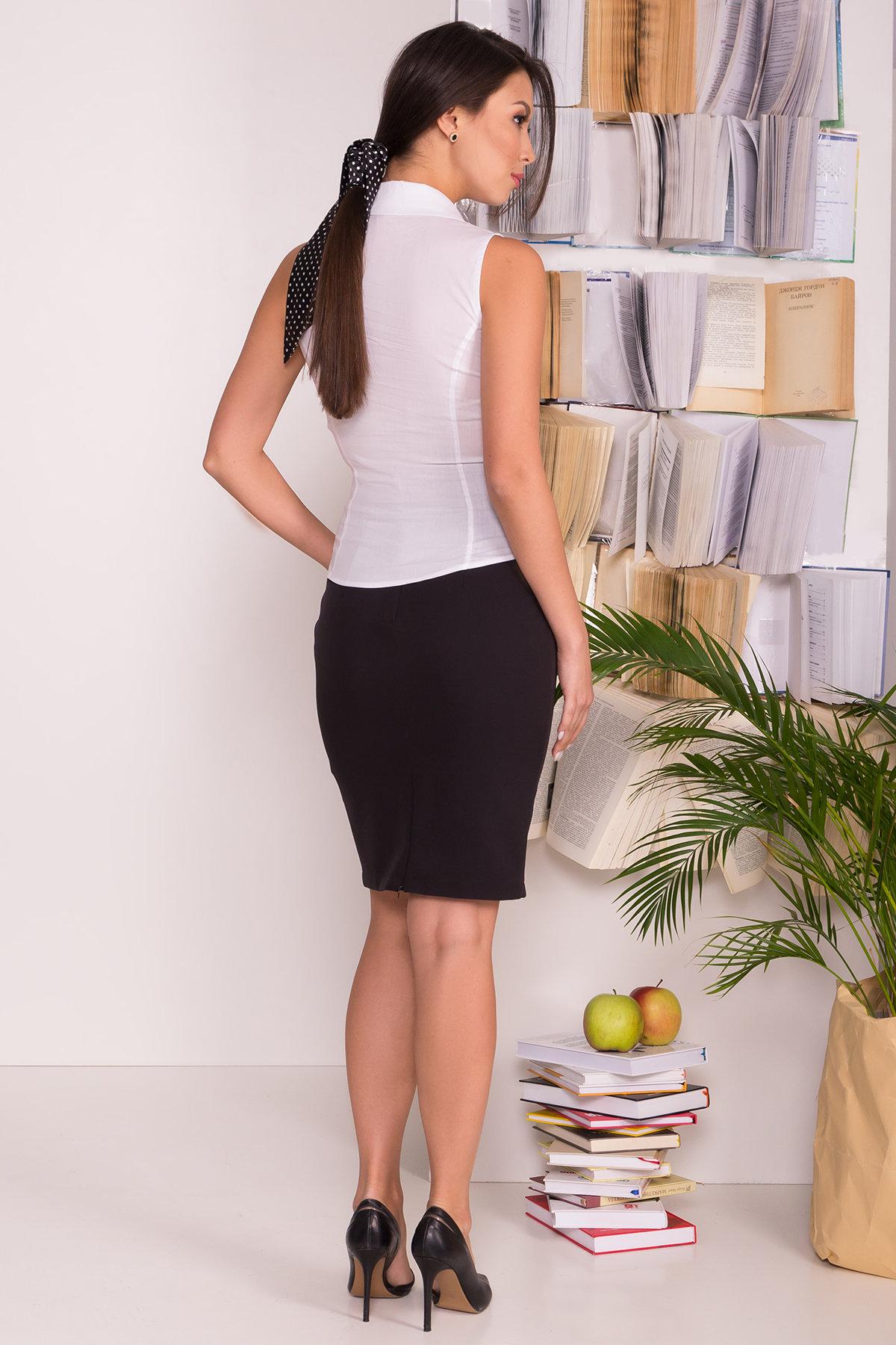 Блуза приталенного кроя без рукавов Санти  7658 АРТ. 43588 Цвет: Белый - фото 3, интернет магазин tm-modus.ru