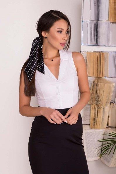 Блуза приталенного кроя без рукавов Санти  7658 Цвет: Белый