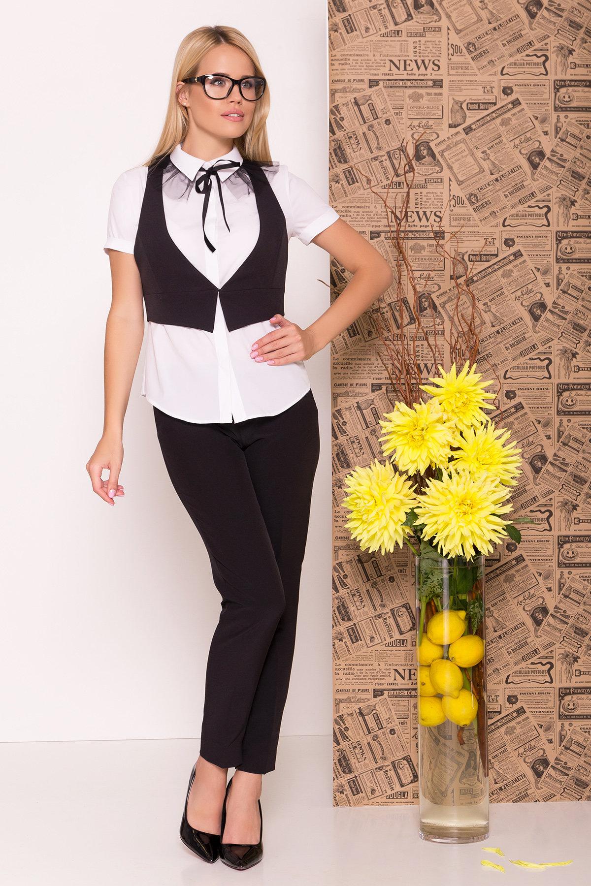 Купить женские костюмы оптом  Блузка с жилетом Джетта 7794