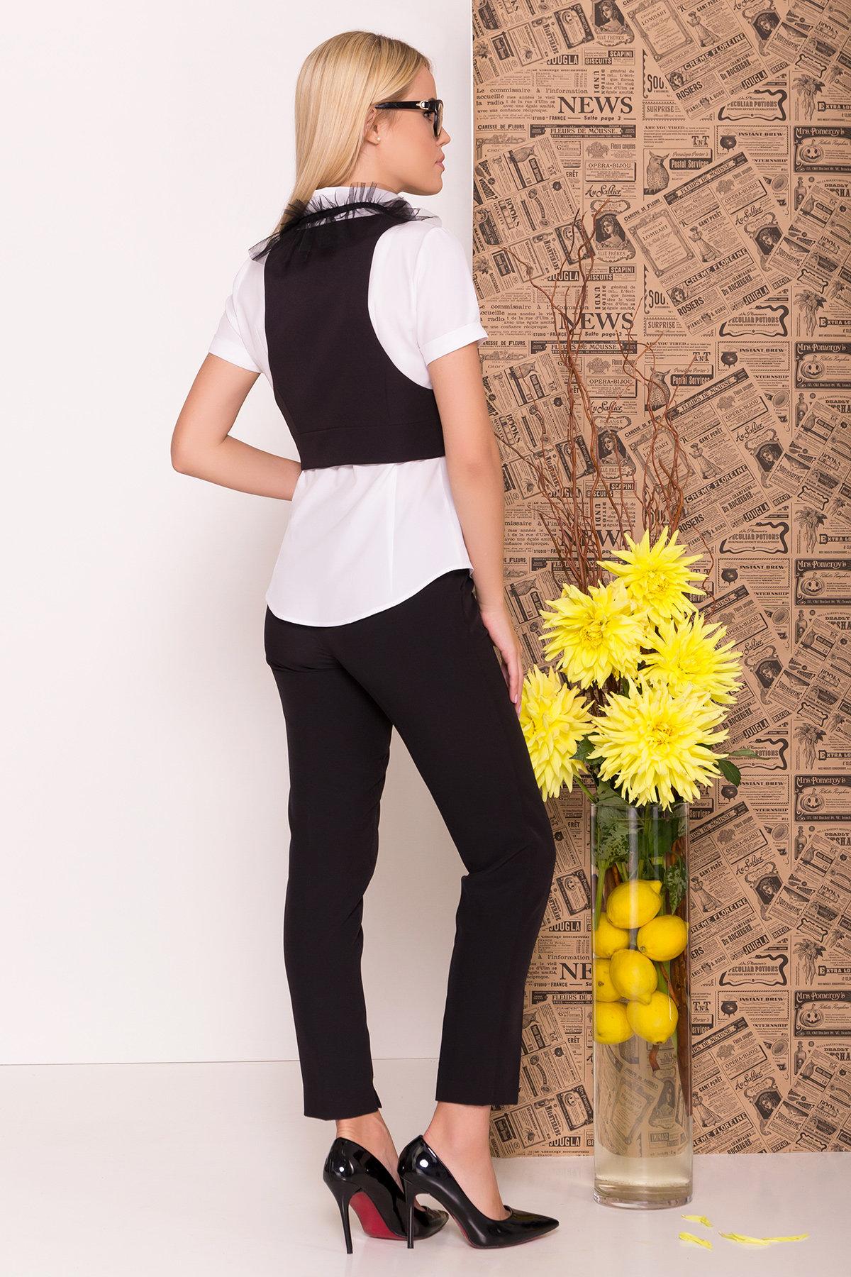 Блузка с жилетом Джетта 7794 АРТ. 43664 Цвет: Белый/черный - фото 3, интернет магазин tm-modus.ru
