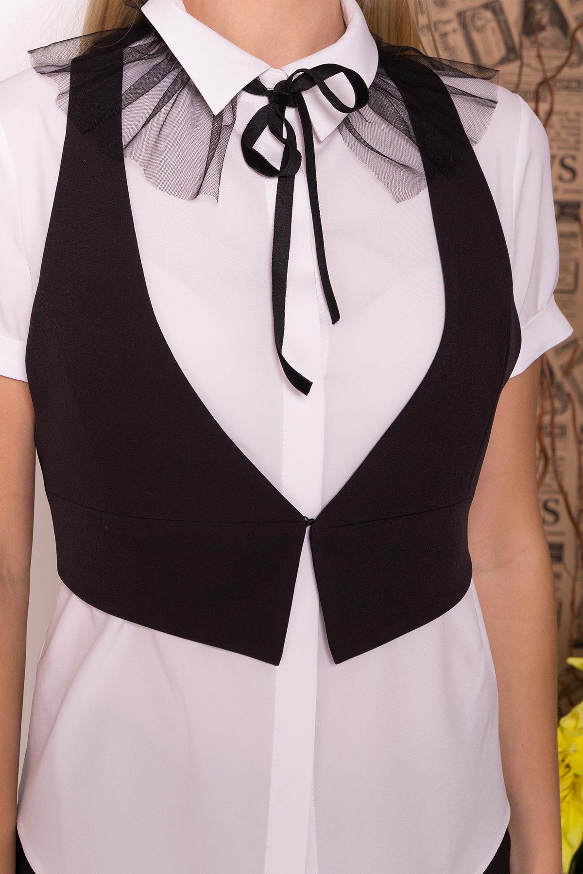 Блузка с жилетом Джетта 7794 АРТ. 43664 Цвет: Белый/черный - фото 5, интернет магазин tm-modus.ru