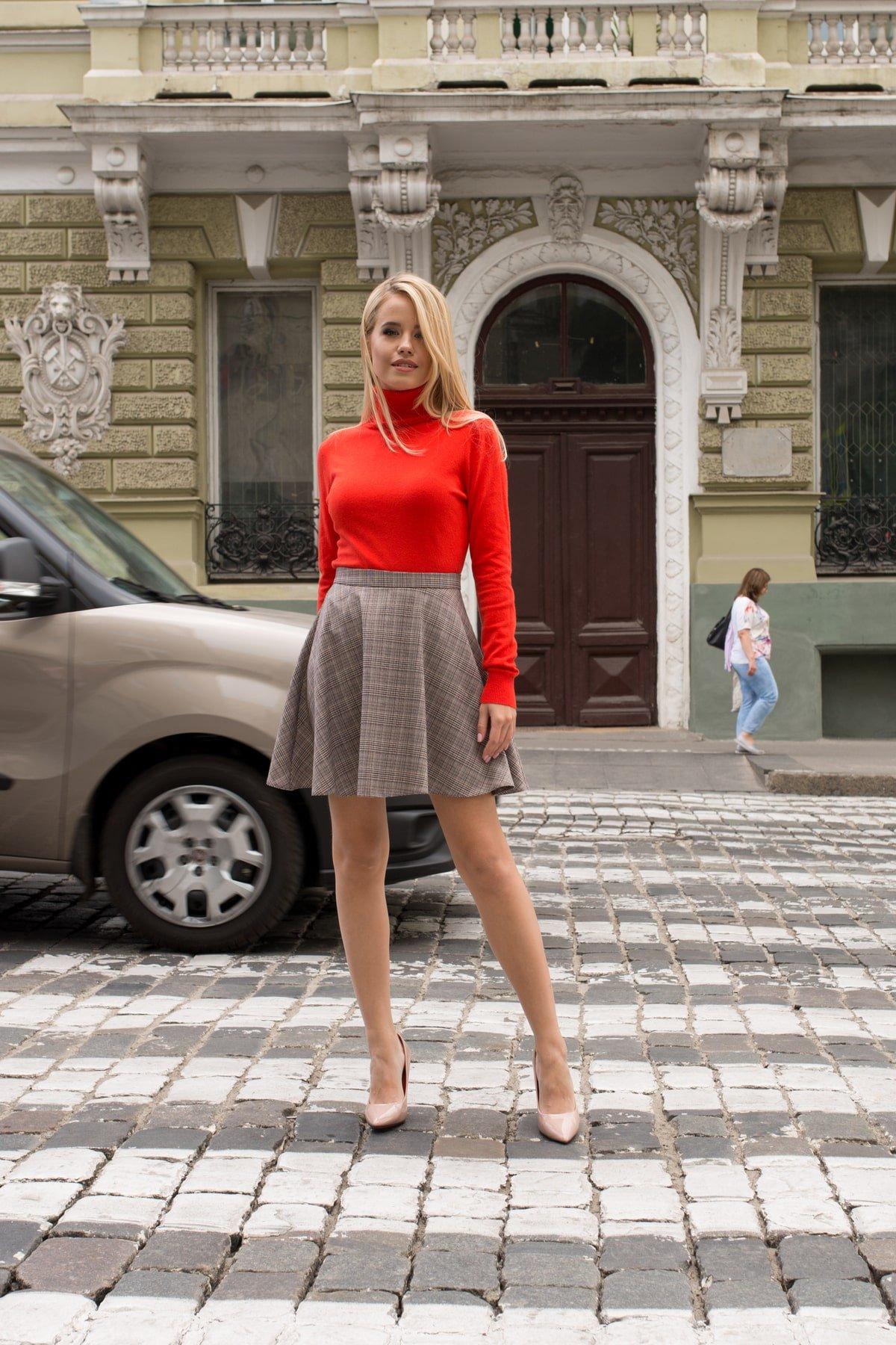 Юбка-солнце Джулиани 6757 АРТ. 41821 Цвет: Бежевый/синий/красный - фото 6, интернет магазин tm-modus.ru