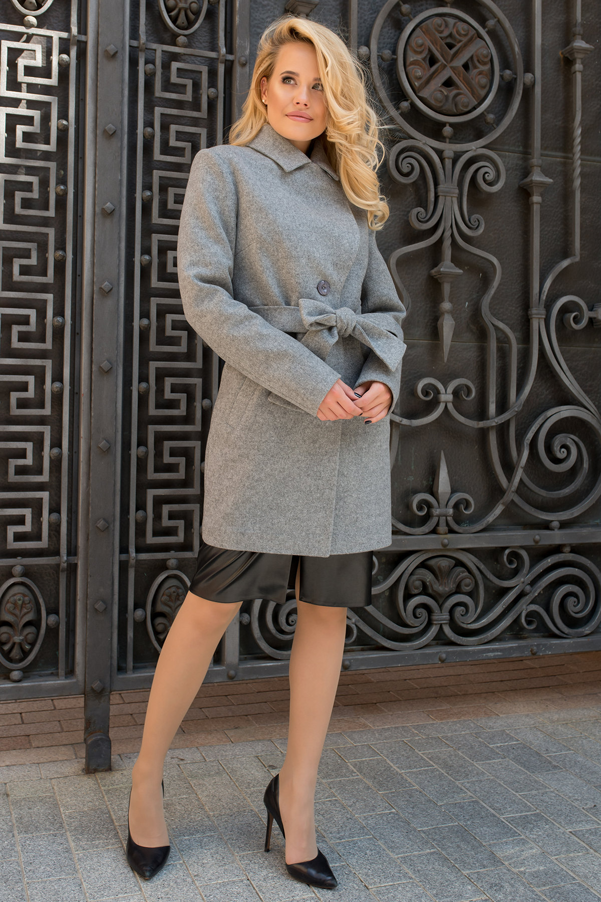 Пальто Габриэлла 7823 АРТ. 43703 Цвет: Серый 1 - фото 3, интернет магазин tm-modus.ru