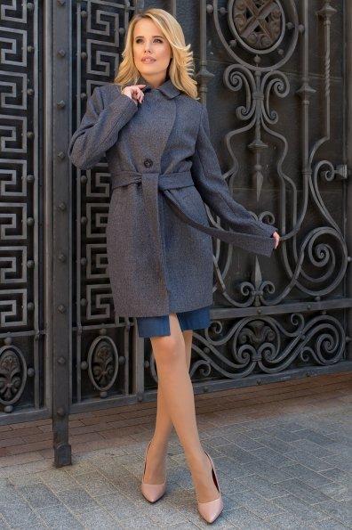 Элегантное демисезонное пальто выше колена Габриэлла 7825 Цвет: Темно-синий