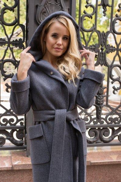 Демисезонное пальто с капюшоном Анджи 7821 Цвет: Т.синий 543