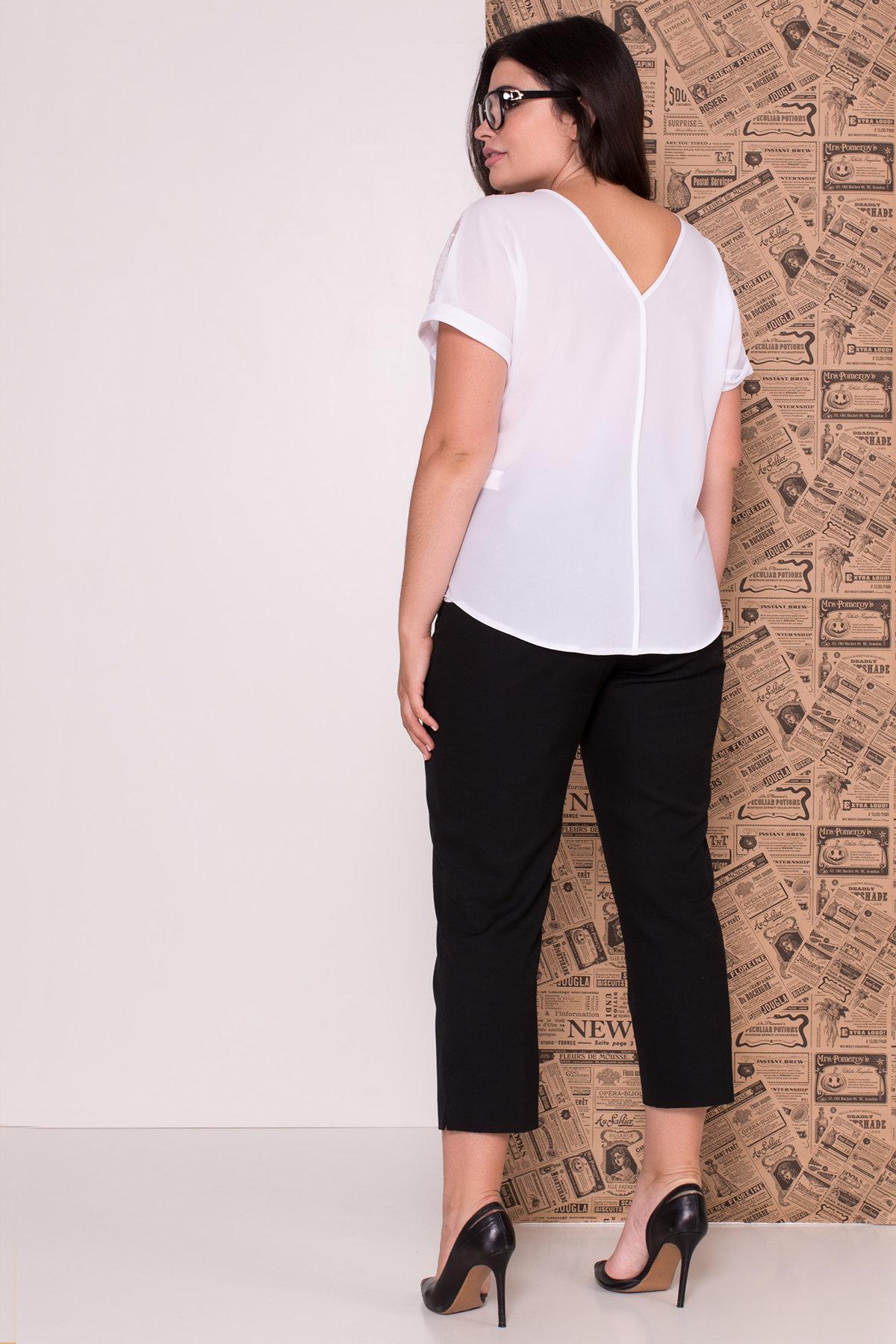 Блуза Свит DONNA 7777 АРТ. 43659 Цвет: Белый - фото 2, интернет магазин tm-modus.ru