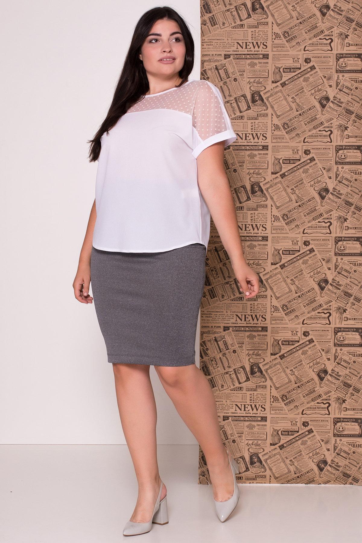 Блуза Свит DONNA 7777 АРТ. 43659 Цвет: Белый - фото 3, интернет магазин tm-modus.ru