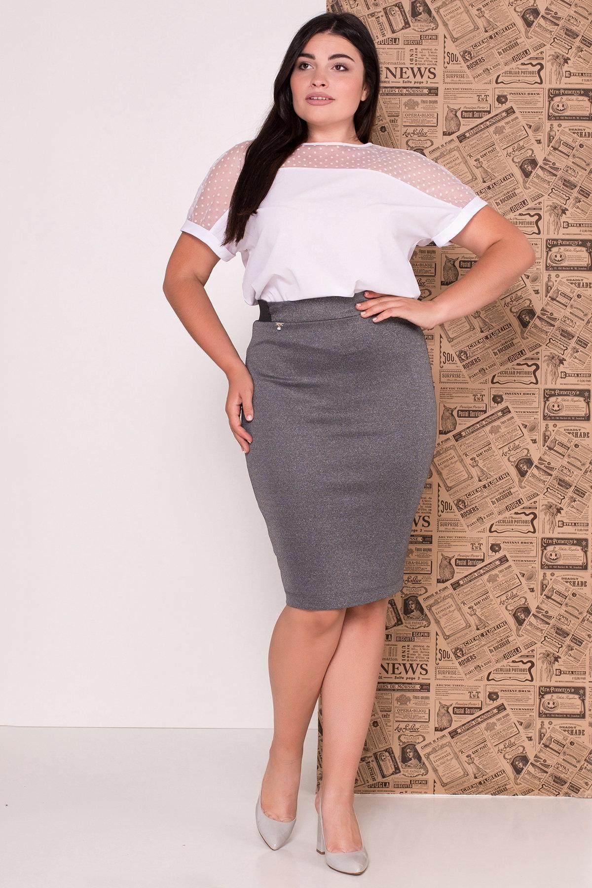 Блуза Свит DONNA 7777 АРТ. 43659 Цвет: Белый - фото 4, интернет магазин tm-modus.ru