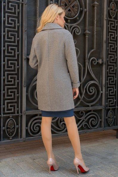 Демисезонное пальто на двух пуговицах Вива 7868 Цвет: Карамель 20