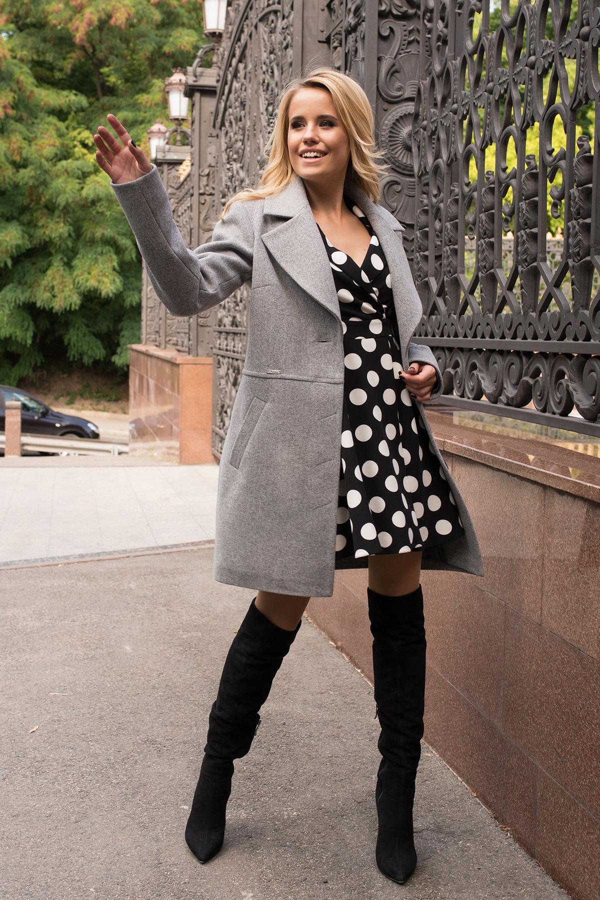 Женские демисезонные пальто производитель Харьков Modus Элегантное демисезонное пальто выше колена Габриэлла 7825