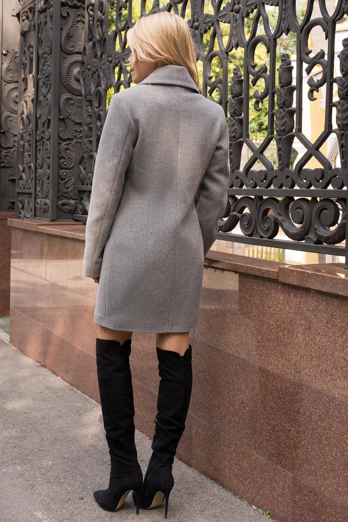Элегантное демисезонное пальто выше колена Габриэлла 7825 АРТ. 43713 Цвет: Серый 49 - фото 3, интернет магазин tm-modus.ru
