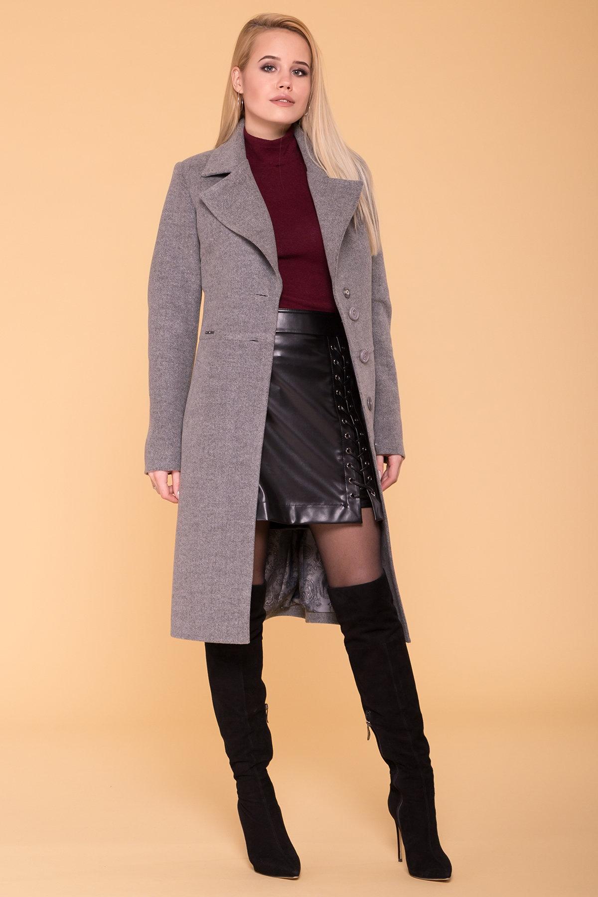 Пальто Габриэлла 7876 АРТ. 43819 Цвет: Серый 18 - фото 2, интернет магазин tm-modus.ru