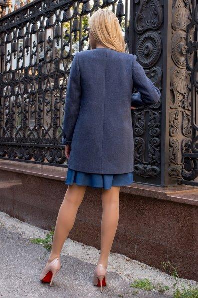 Демисезонное пальто с накладными карманами Ажен лайт 7812 Цвет: Джинс 41