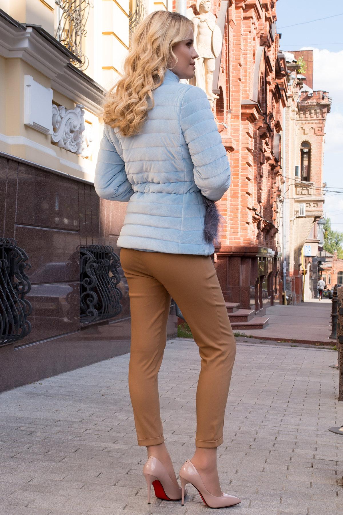 Куртка с мехом на карманах Дезире 4452 АРТ. 21968 Цвет: Голубой - фото 5, интернет магазин tm-modus.ru