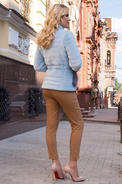 Куртка с мехом на карманах Дезире 4452 Цвет: Голубой
