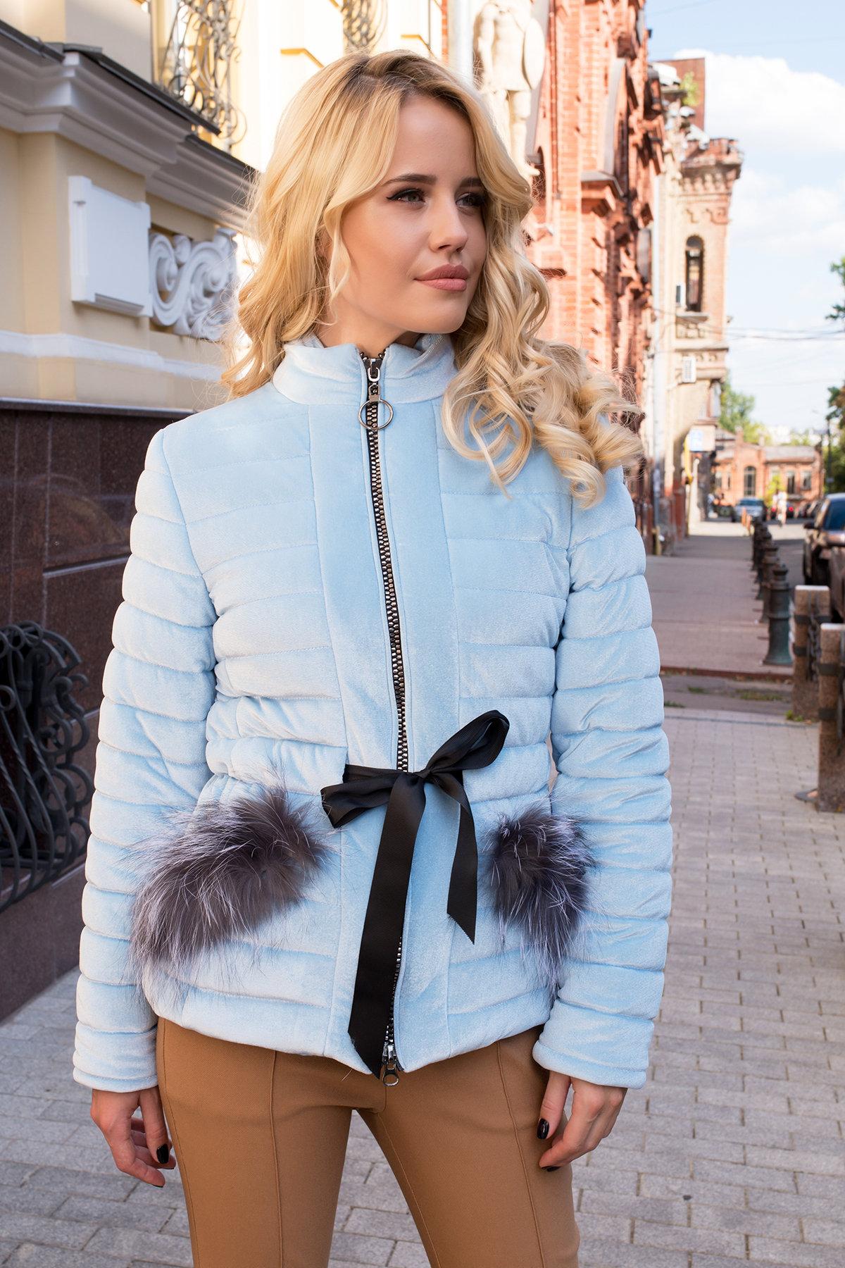 купить женские плащи оптом  Куртка с мехом на карманах Дезире 4452